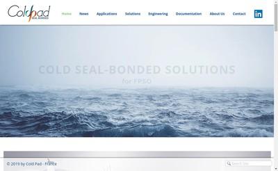 Site internet de Cold Pad