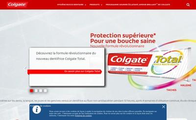 Site internet de Colgate-Palmolive