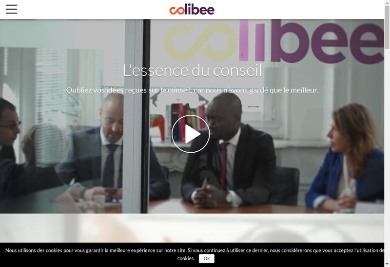 Capture d'écran du site de Colibee