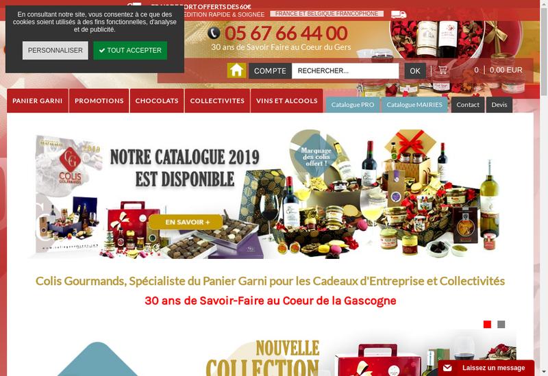 Capture d'écran du site de Comptoir du Cadeau