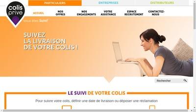 Site internet de Colis Prive France