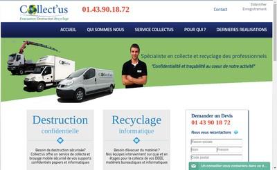 Site internet de Collect'Us