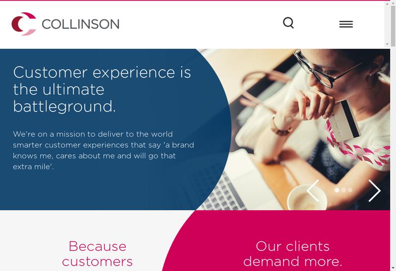 Capture d'écran du site de Collinson