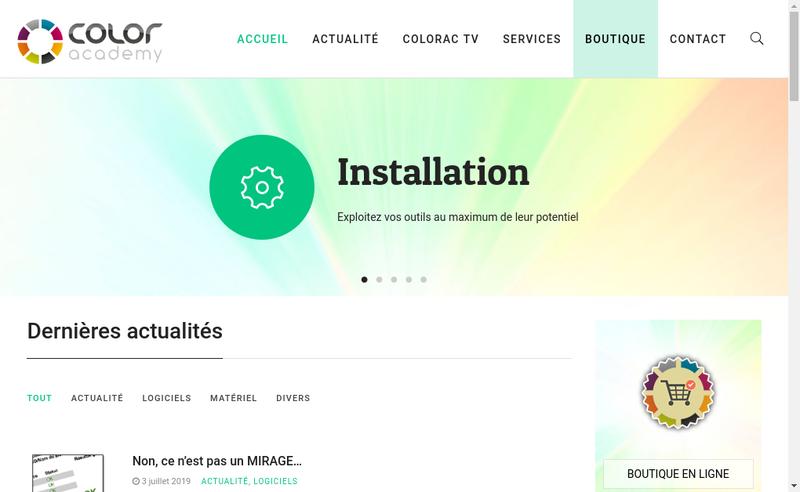 Capture d'écran du site de Color System