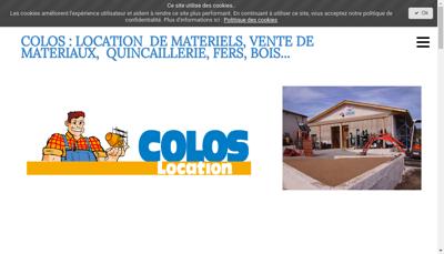 Capture d'écran du site de SARL Colos