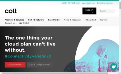Site internet de Colt Technology Services