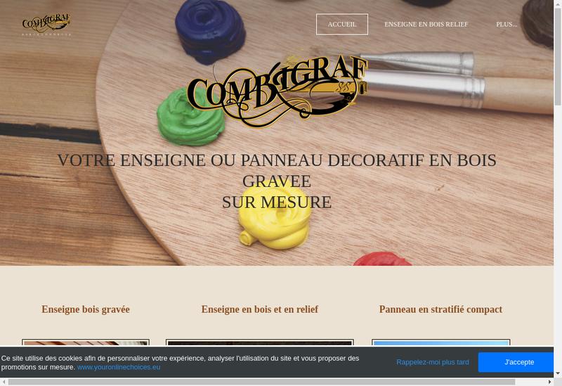 Capture d'écran du site de Combigraf