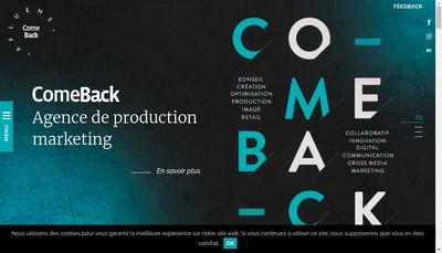 Site internet de Come Back Graphic Associes