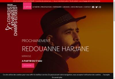Site internet de Comedie des Champs Elysees