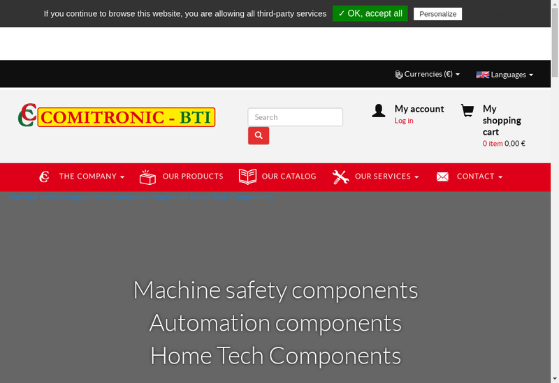 Capture d'écran du site de COMITRONIC-BTI