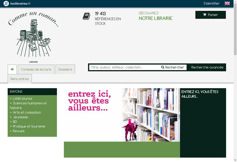 Capture d'écran du site de Comme Un Roman