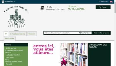 Site internet de Comme un Roman