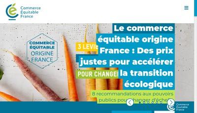 Site internet de Commerce Equitable France