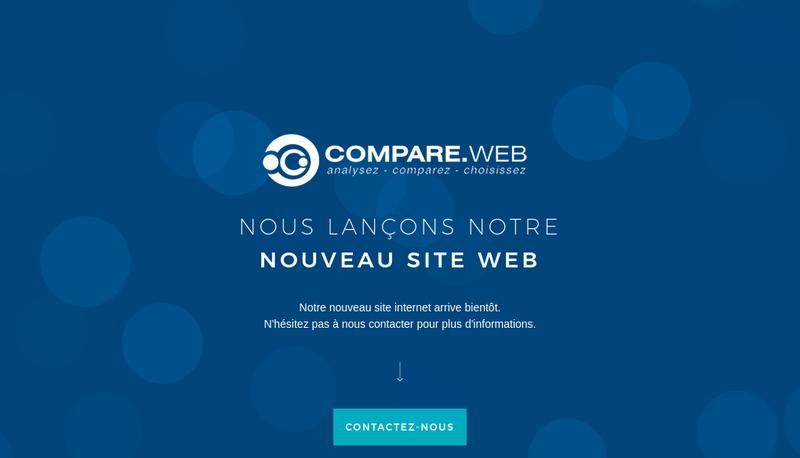 Capture d'écran du site de Compare Web
