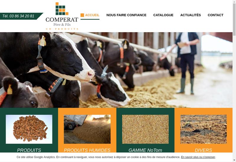 Capture d'écran du site de Comperat Co Produits Pere et Fils