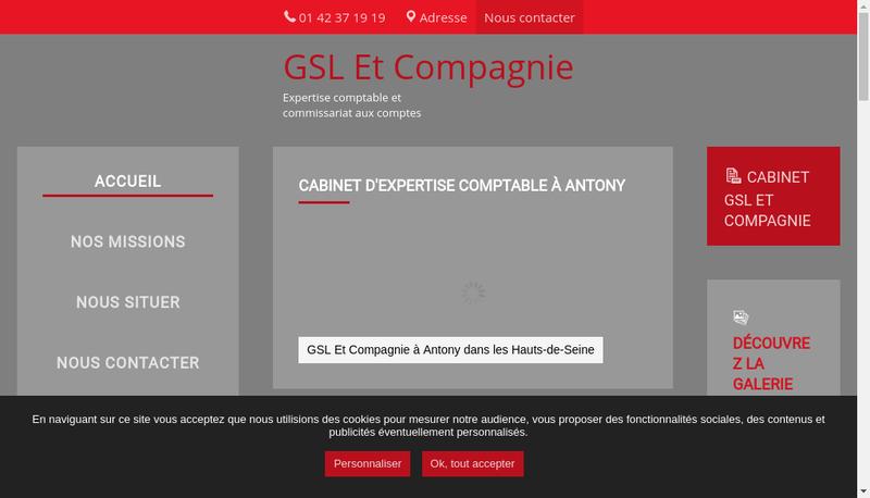 Capture d'écran du site de Gsl et Compagnie