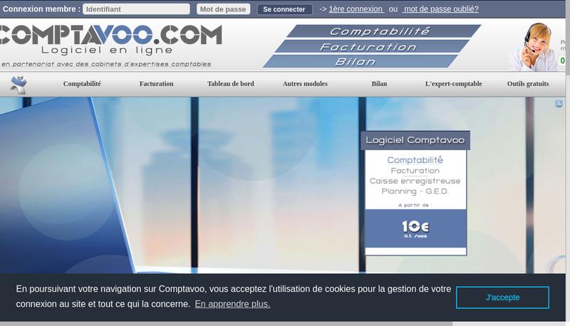 Capture d'écran du site de Comptavoo+