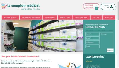 Capture d'écran du site de Le Comptoir Medical