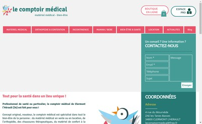 Site internet de Le Comptoir Medical