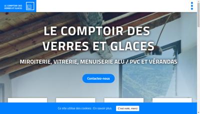 Capture d'écran du site de Comptoir des Verres et Glaces