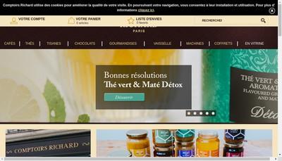 Site internet de Les Comptoirs Richard