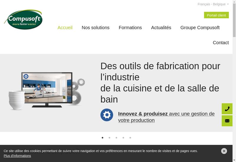 Capture d'écran du site de Compusoft Innobain