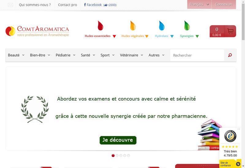 Capture d'écran du site de Comtaromatica