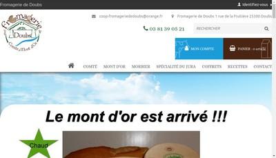 Site internet de Fromagerie du Doubs