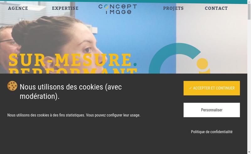 Capture d'écran du site de Concept Image Rennes / Concept Image B