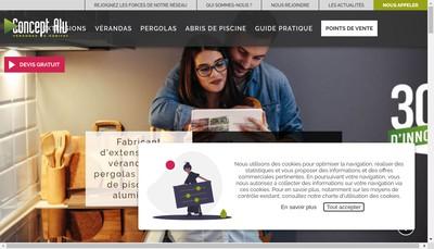 Site internet de Concept Alu Veranda