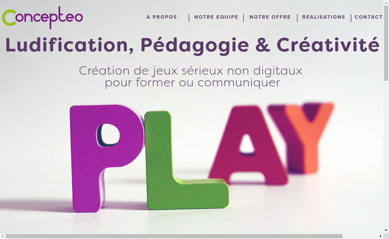Capture d'écran du site de Concepteo