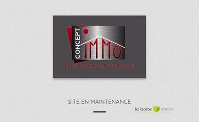 Site internet de Concept Immo