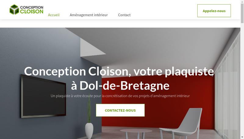 Capture d'écran du site de Conception Cloison