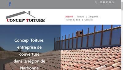 Site internet de Concep'Toiture