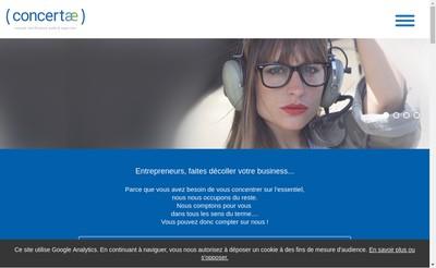 Site internet de Concertae