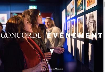 Site internet de Concorde Evenement