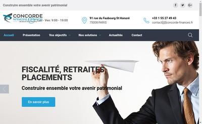 Site internet de Concorde Finance