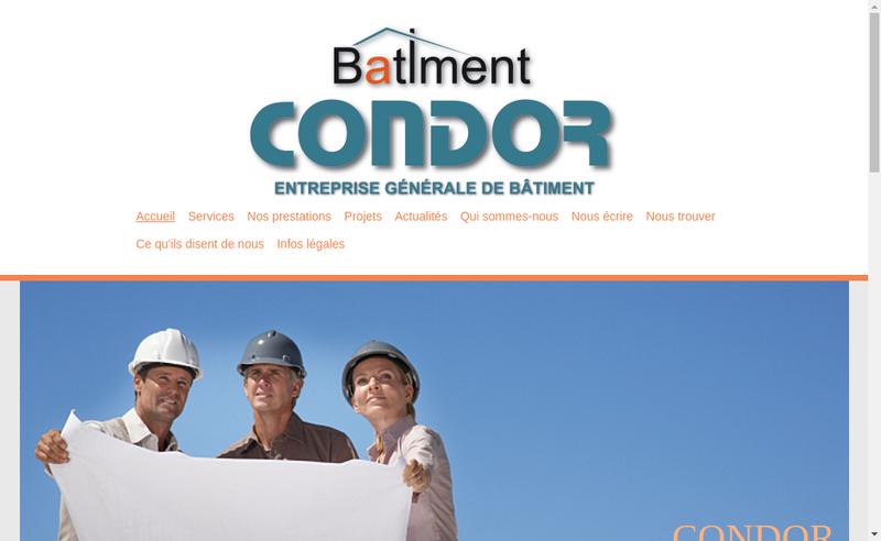 Site internet de Condor Loc