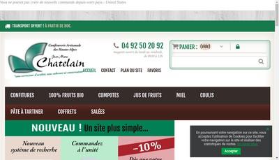 Site internet de Confiturerie JM Chatelain