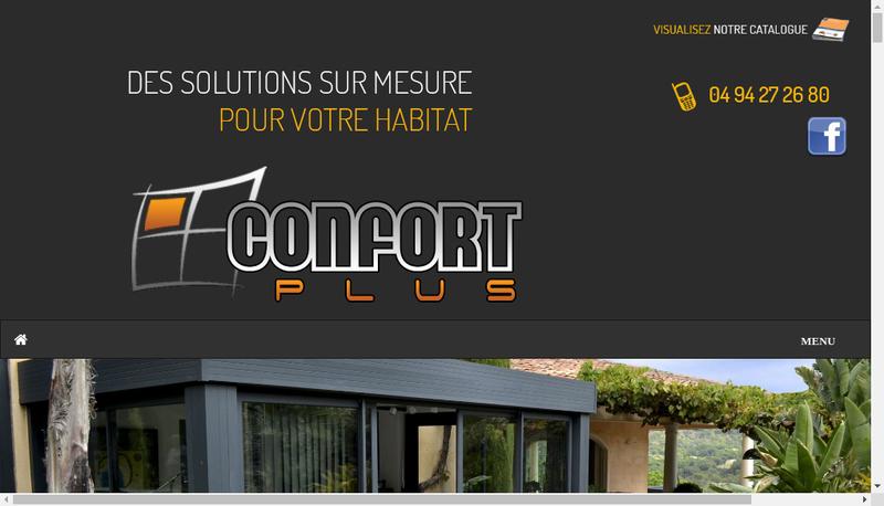 Capture d'écran du site de Confort Plus