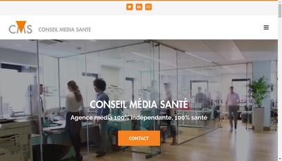 Site internet de Conseil Media Sante