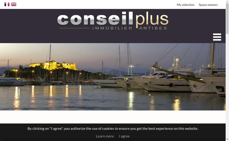Capture d'écran du site de Conseil Plus Immobilier
