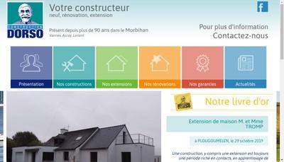Site internet de Construction Dorso
