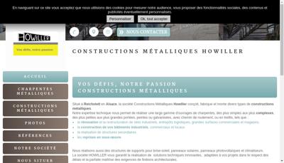 Capture d'écran du site de Constructions Metalliques Ch Howiller