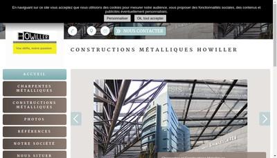 Site internet de Constructions Metalliques Ch Howiller