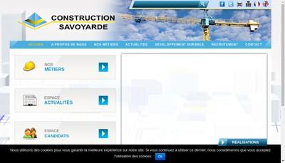 Site internet de Construction Savoyarde