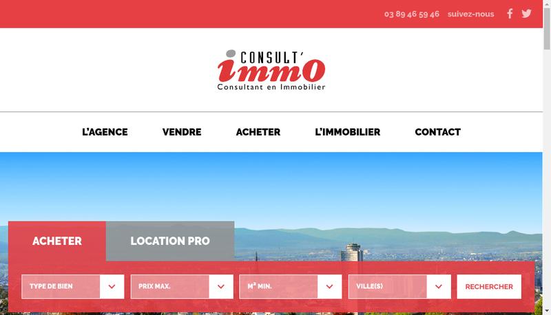 Capture d'écran du site de Consult'Immo