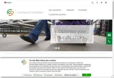 Site internet de Container Centralen France