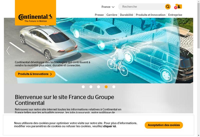 Capture d'écran du site de Continental Automotive Rambouillet