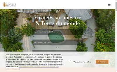 Site internet de Continents Insolites France